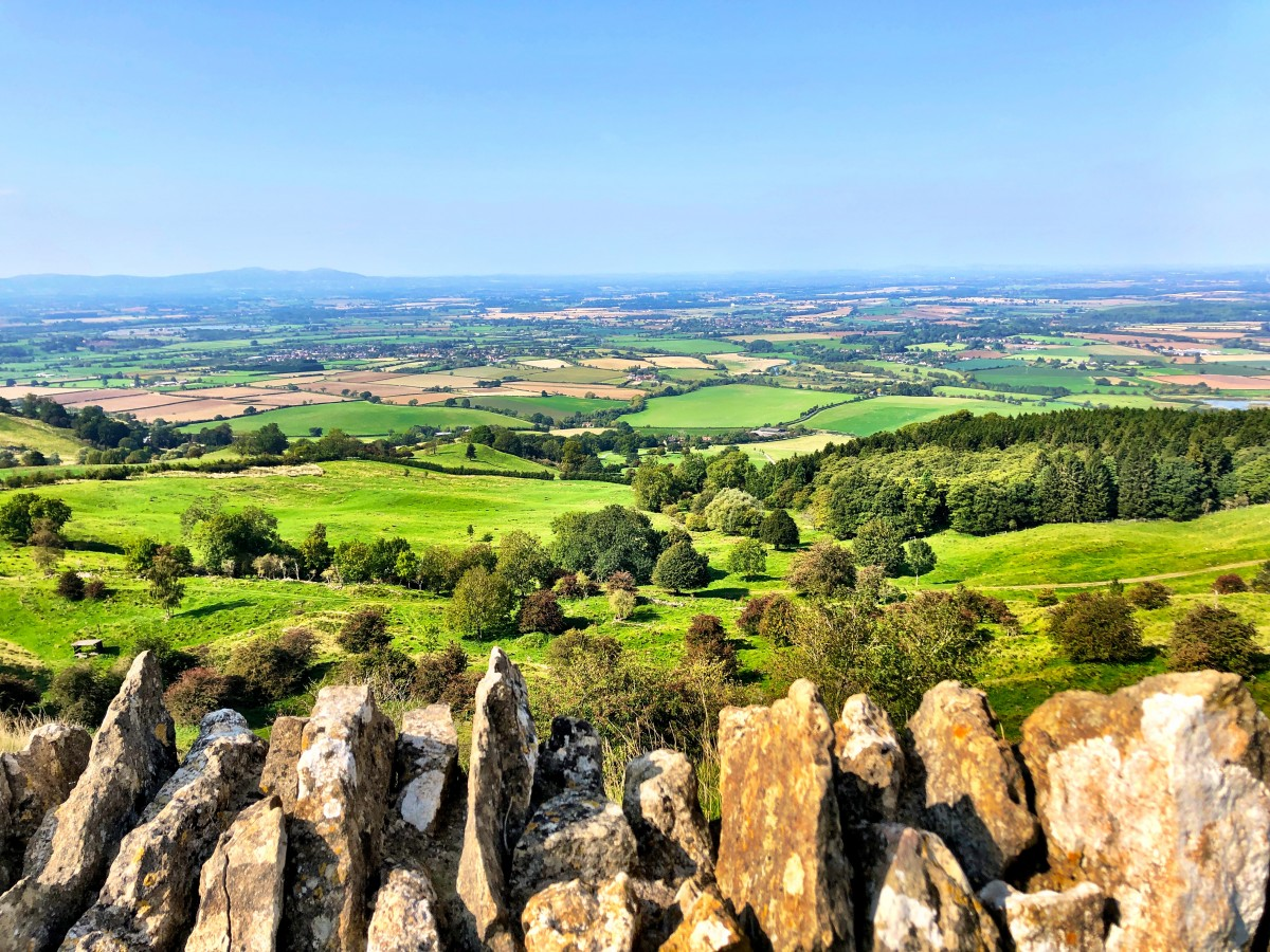 Helen's view from Bredon Hill